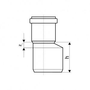 Редукция ПП для внутренней канализации Ostendorf 110/50