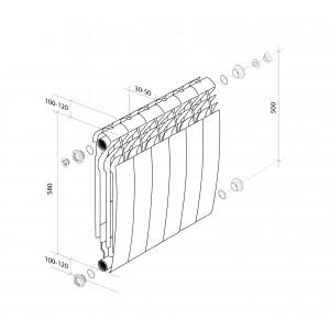 Алюминиевые радитоары Royal Thermo BiLiner ALUM 500