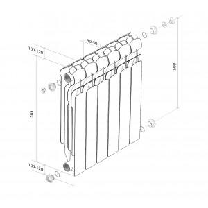 Алюминиевые радитоары Royal Thermo Indigo 500