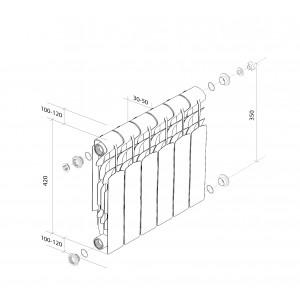 Алюминиевые радитоары Royal Thermo Revolution 350