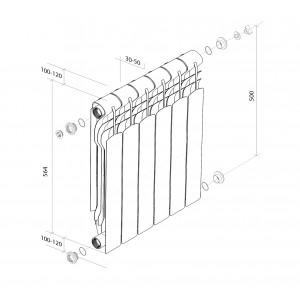 Биметаллические радитоары Revolution Bimetall 500
