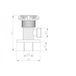 Кран с подключением душевого шланга AZR 6 SL