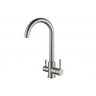 Смеситель для кухни ZorG Steel Hammer SH 713 нержавейка