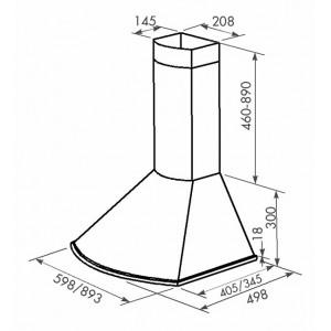 Вытяжка кухонная ZORG TECHNOLOGY Bora 1000 60 М бежевая