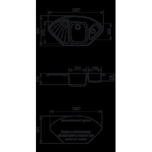 Мойка кухонная GS 14 К 308 черная