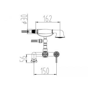 Смеситель для ванны A 200 W SL