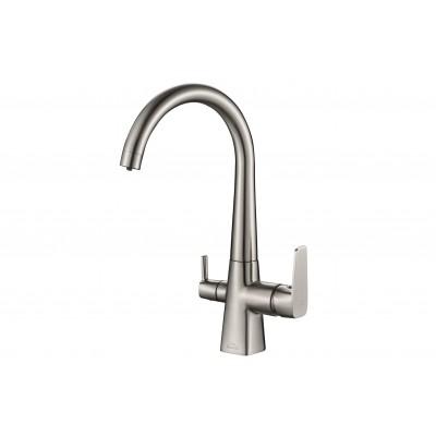 Смеситель для кухни ZorG Steel Hammer SH 819 сатин