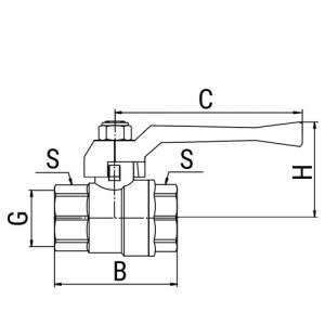 Кран шаровой OPTIMA, ручка-рычаг (внутр.-внутр.)