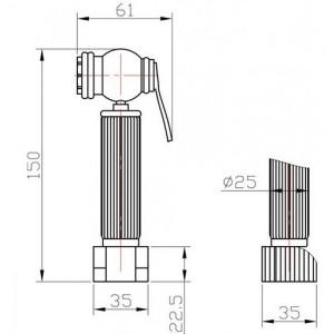 Комплект для биде AZR 3 LB BR