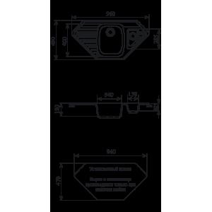 Мойка кухонная GS 10 К 307 терракот
