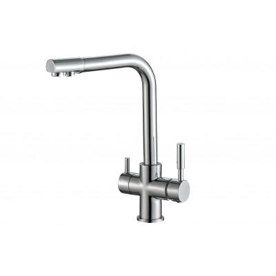 Смеситель для кухни ZorG Steel Hammer SH 552 хром