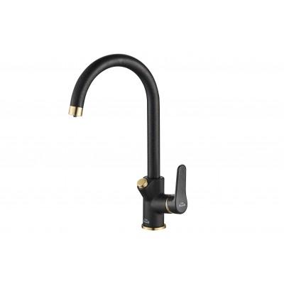 Смеситель для кухни ZorG Steel Hammer SH 901 черный + бронза