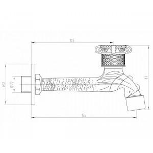 Кран для бани AZR 31818 BR LW 31818