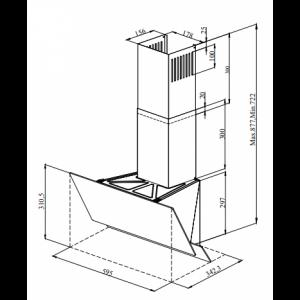 Вытяжка кухонная ZORG TECHNOLOGY ARSTAA 60С М белое стекло + нержавеющая сталь