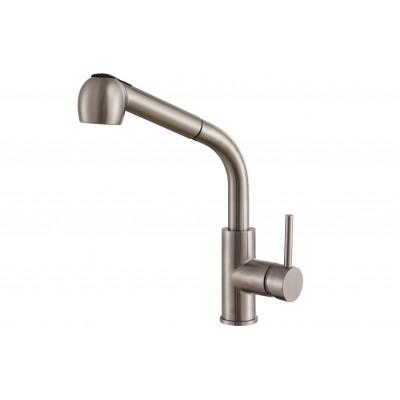 Смеситель для кухни ZorG Steel Hammer SH 6006 нержавейка