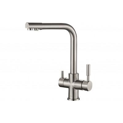 Смеситель для кухни ZorG Steel Hammer SH 552 сатин