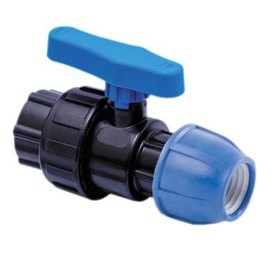 """Кран компрессионный для полиэтиленовых труб ВР 32 x 3/4"""" (Lammin) 25/1"""