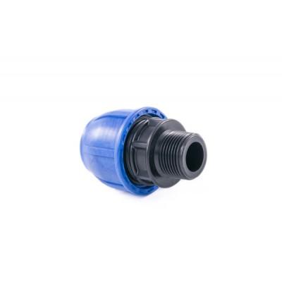 """Муфта компрессионная для полиэтиленовых труб НР 63 x 1_1/2"""" (Lammin) 15/1"""