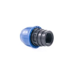 """Муфта компрессионная для полиэтиленовых труб ВР 40 x 1"""" (Lammin) 35/1"""