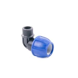 """Отвод компрессионный для полиэтиленовых труб НР 63 x 1_1/2"""" (Lammin) 10/1"""