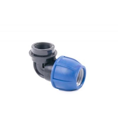 """Отвод компрессионный для полиэтиленовых труб ВР 20 x 3/4"""" (Lammin) 155/1"""
