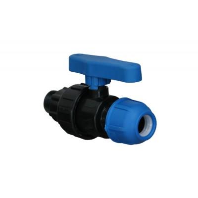 """Кран компрессионный для полиэтиленовых труб НР 25 x 3/4"""" (Lammin) 40/1"""