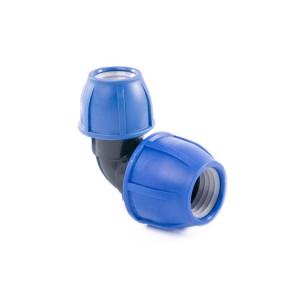 Отвод компрессионный для полиэтиленовых труб 32 x 25 (Lammin) 50/1