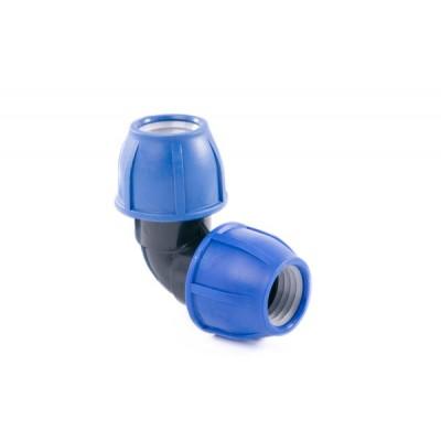 Отвод компрессионный для полиэтиленовых труб 25 (Lammin) 70/1
