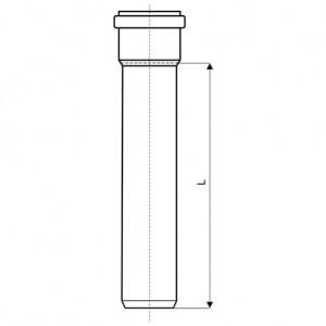Труба наружная канализационная Ostendorf 110x1000 мм